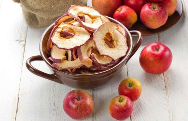 خواص مصرف سیب خشک